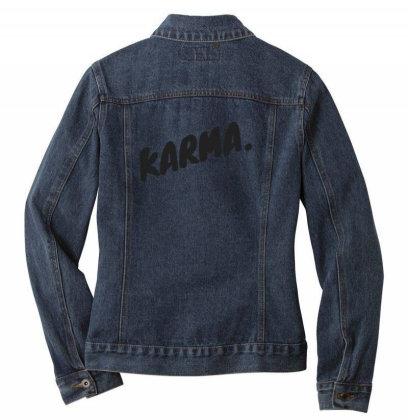 Karma Design Ladies Denim Jacket Designed By The Sleepy Hero