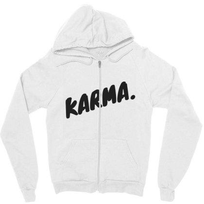 Karma Design Zipper Hoodie Designed By The Sleepy Hero