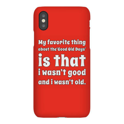 My Favorite Thing About The Good Old Days Iphonex Case Designed By Samkal