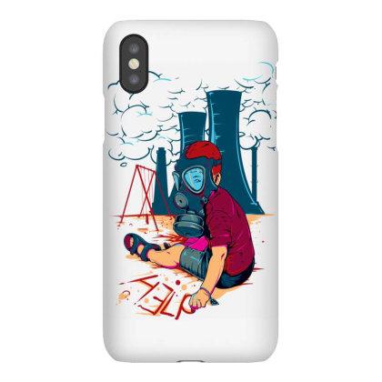 Boy Wearing Gas Mask Iphonex Case Designed By Egyboy