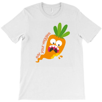 Eat Your Veggies T-shirt Designed By Designsbymallika