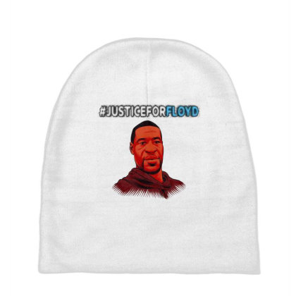 Justice For George Floyd Baby Beanies Designed By Yahia1