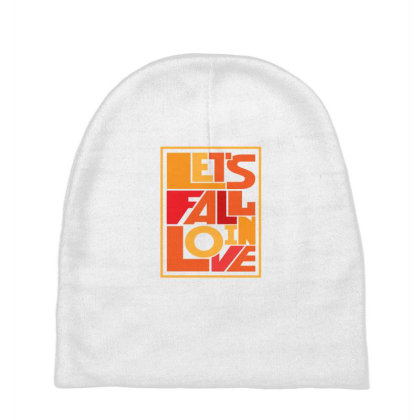 Let's Fall In Love Baby Beanies Designed By Designsbymallika