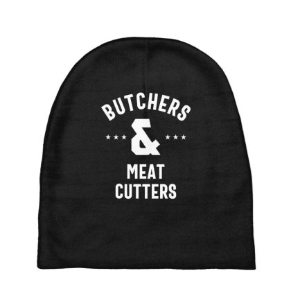 Butchers & Meat Cutters Job Title Gift Baby Beanies Designed By Cidolopez
