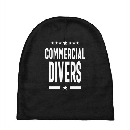 Commercial Divers Job Title Gift Baby Beanies Designed By Cidolopez