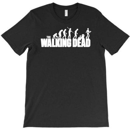 The Walking Dead Horror Zombie T-shirt Designed By Funtee