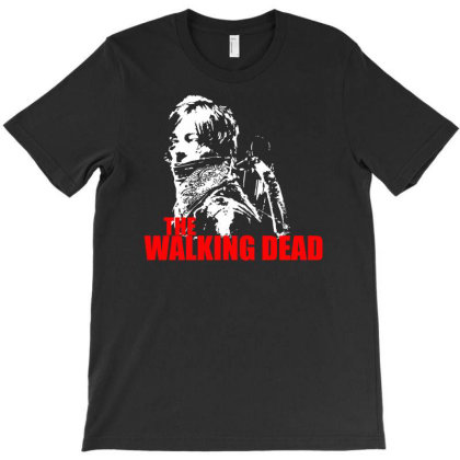 The Walking Dead Tv Show Daryl Dixon With Bandana Zombies T-shirt Designed By Funtee