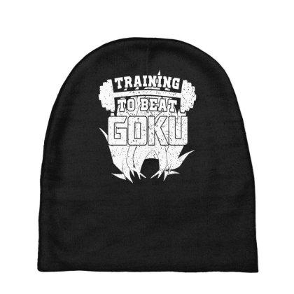Training To Beat Goku Baby Beanies Designed By Farh4n