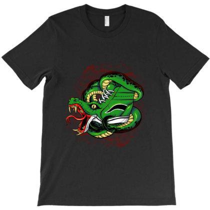 Snaker Bites T-shirt Designed By Spoilerinc