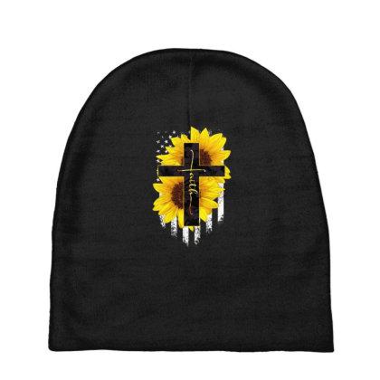 Faith Sunflower Flag Baby Beanies Designed By Hoainv