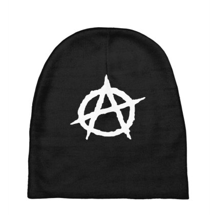 Anarchy In White Baby Beanies Designed By Colla Store