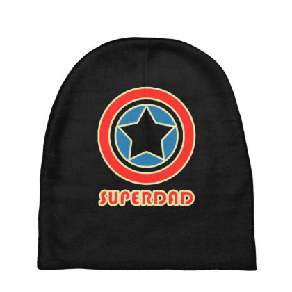 Funny Superdad Baby Beanies Designed By Colla Store