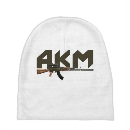 Assault Rifle Akm Baby Beanies Designed By Aim For The Face