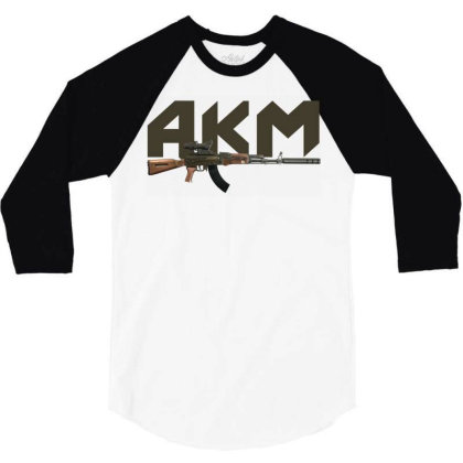 Assault Rifle Akm 3/4 Sleeve Shirt Designed By Aim For The Face