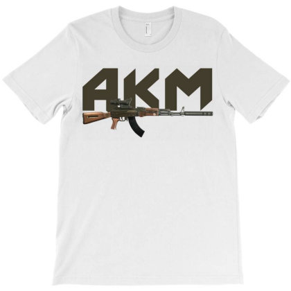 Assault Rifle Akm T-shirt Designed By Aim For The Face