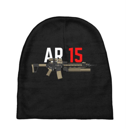 Rifle Ar 15 Baby Beanies Designed By Aim For The Face