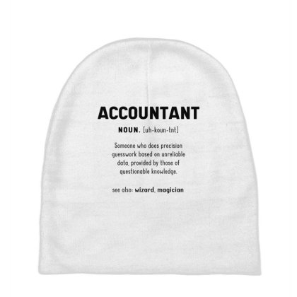 Accountant Definition Wizard, Magician - Accountant Cool Job Gift Baby Beanies Designed By Diogo Calheiros