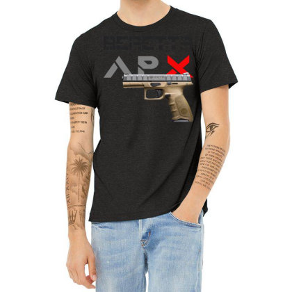 Handgun Beretta Apx Heather T-shirt Designed By Aim For The Face