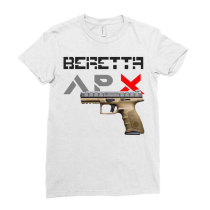 Handgun Beretta Apx Ladies Fitted T-shirt Designed By Aim For The Face