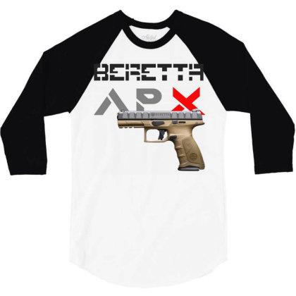 Handgun Beretta Apx 3/4 Sleeve Shirt Designed By Aim For The Face
