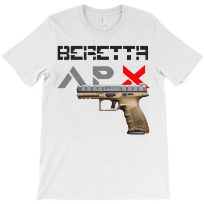 Handgun Beretta Apx T-shirt Designed By Aim For The Face