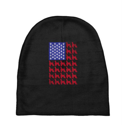 Afghan Hound American Flag Patriotic 4th Of July Baby Beanies Designed By Hoainv