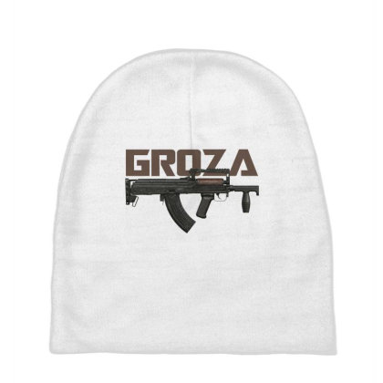 Vintage Rifle Groza Baby Beanies Designed By Aim For The Face