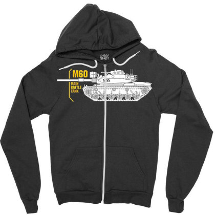 Main Battle Tank M60 Zipper Hoodie Designed By Aim For The Face