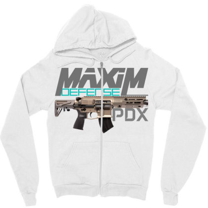 Maxim Defense Pdx Zipper Hoodie Designed By Aim For The Face