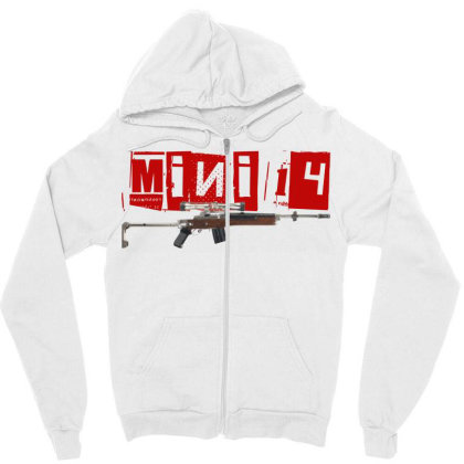 Mini 14 Zipper Hoodie Designed By Aim For The Face