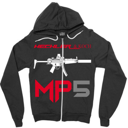 Hk Mp5 Zipper Hoodie Designed By Aim For The Face