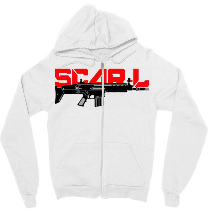 Scar - L Zipper Hoodie Designed By Aim For The Face