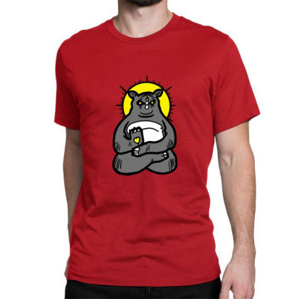 Spirit Animal Rhino Classic T-shirt Designed By Sr88