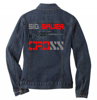 Sig Sauer Cross Ladies Denim Jacket Designed By Aim For The Face