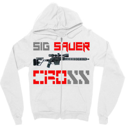 Sig Sauer Cross Zipper Hoodie Designed By Aim For The Face