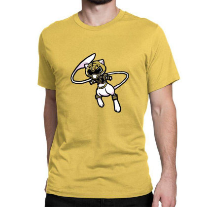 White Ranger Cat Classic T-shirt Designed By Sr88