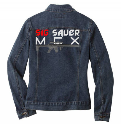 Sig Sauer Mcx Ladies Denim Jacket Designed By Aim For The Face