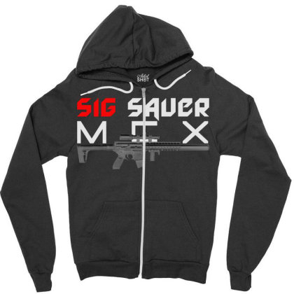 Sig Sauer Mcx Zipper Hoodie Designed By Aim For The Face