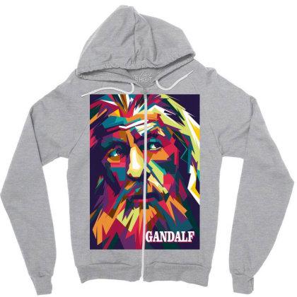 Gandalf Zipper Hoodie Designed By Zhianwpap