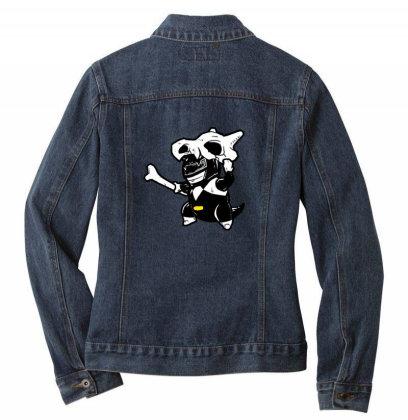 Black Ranger Dog Ladies Denim Jacket Designed By Sr88