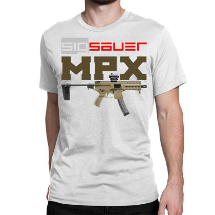 Sig Sauer Mpx Classic T-shirt Designed By Aim For The Face