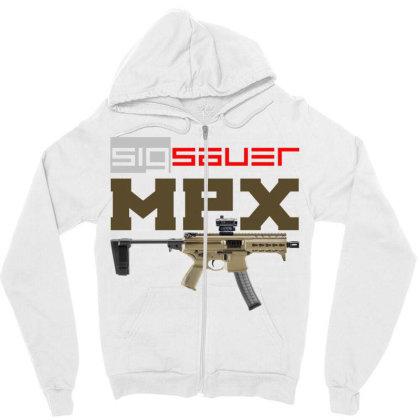 Sig Sauer Mpx Zipper Hoodie Designed By Aim For The Face
