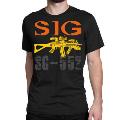 Sig Sauer Sg-552 Classic T-shirt Designed By Aim For The Face