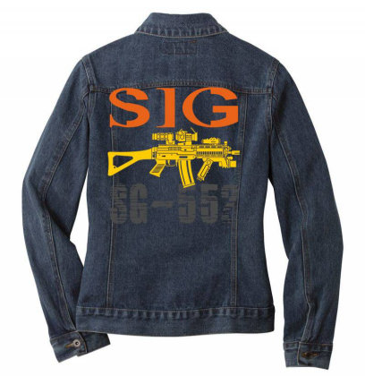 Sig Sauer Sg-552 Ladies Denim Jacket Designed By Aim For The Face