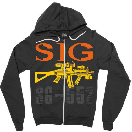 Sig Sauer Sg-552 Zipper Hoodie Designed By Aim For The Face