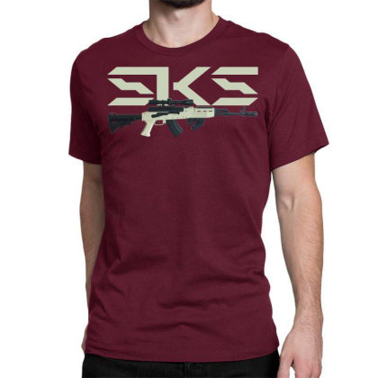 Sks Rifle Classic T-shirt Designed By Aim For The Face