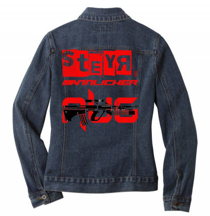 Steyr Aug Ladies Denim Jacket Designed By Aim For The Face