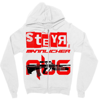 Steyr Aug Zipper Hoodie Designed By Aim For The Face