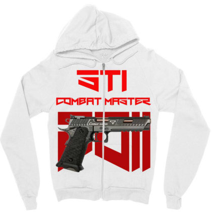 Sti Combat Master 2011 Zipper Hoodie Designed By Aim For The Face