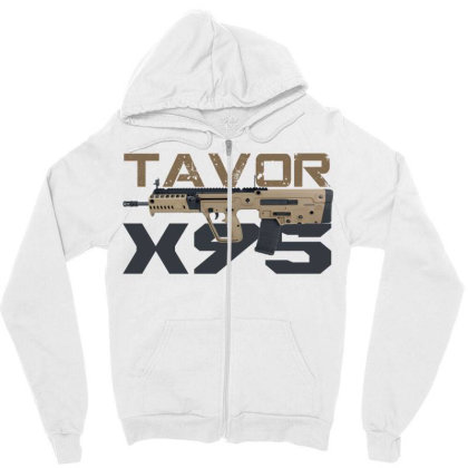 Tavor X95 Zipper Hoodie Designed By Aim For The Face